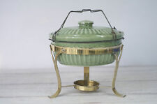 Vintage Chafer Made In USA Pottery, Food Warmer, Buffet Chafing Dish  W/Handle