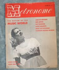 Vintage Metronome Music Magazine Sep 1946 Dinah Shore Jazz Big Band