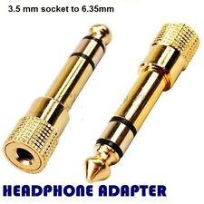 Adattatore cuffie Oro Placcato 3.5 mm Socket A 6,35 mm Jack Spina Audio Convertitore da