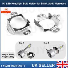 Pair H7 LED Headlight Bulb Adapter Holder Retainer For Audi A3 Mercedes VW