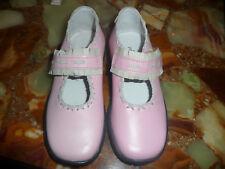 Entièrement neuf dans sa boîte PECHE D'AMOUR filles Rose Chaussures En Cuir/Magnifique/grande qualité/TAILLE 27/9