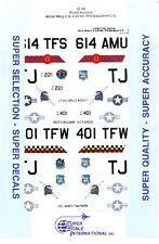 1/32 Super-Scale DECALS 32-96; F-16C Falcon; 401st Wing C.O. & 614th TFS C.O.