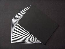 20x Kartenkarton-papier Tonkarton A5 weiss/schwarz 220g