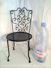 chaise en fer forgé pour poupée ou enfant de style ancien