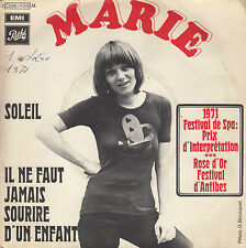 45TRS VINYL 7''/ FRENCH SP MARIE / SOLEIL / 1971 / ROSE D'OR D'ANTIBES