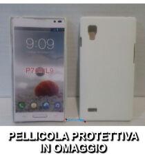 Pellicola + custodia BACK cover RIGIDA BIANCA per LG Optimus L9 P760 Hard