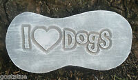 Plastic dog puppy  plaque mold garden ornament stepping stone