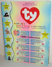 TY INC BEANIE BABY COMPANY WHOLESALE CATALOG 1998 BEANIE BABIES COLLECTION