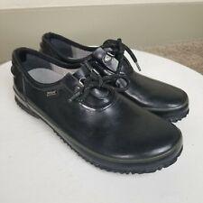 Bogs Urban Farmer Women's Size 9 Black Rubber Waterproof Lace Up Shoe