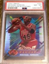 Michael Jordan Bulls HOF 1994-1995 94-95 Topps Finest Refractor #331 PSA 8 NMMT