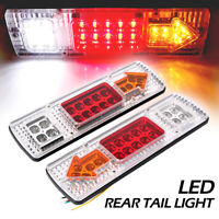 2 ps 12v 19 LED ail Lights Ute Trailer Caravan Truck Stop Indicator rear LAMP GQ