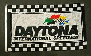 DAYTONA 500 Drivers 26x Multi Signed Flag w/ Dale Earnhardt Sr + PSA/DNA LOA