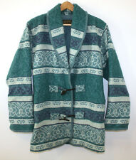 Eddie Bauer Southwestern Blanket Coat Vintage Aztec Tribal Womens Small Made USA