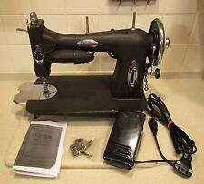 INDUSTRIAL STRENGTH WHITE 43 SEWING MACHINE COMPLETELY SERVICED