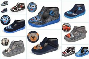 Shoes for Boys Kids Nursery Spring Summer Slippers LEATHER Insole Size UK 3–7