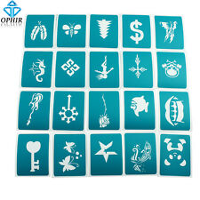 OPHIR 20PCS Airbrush Temporary Tattoo Templates Henna Body Glitter Stencils Set