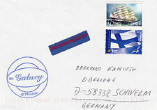 FINNISH FERRY SHIP MI GALAXY A SHIPS CACHED COVER FINLAND & ALAND STAMPS