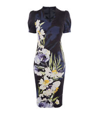 Karen Millen Multicolour Sculpting Floral Pencil Dress UK Size 12 and UK Size 14