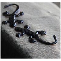1Pcs Black Real Carbon Fiber 3D Quattro GECKO LIZARD Badge Emblems Sticker Style