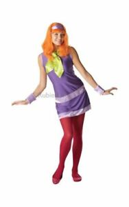 Adult Scooby Doo Daphne Ladies Halloween Party Fancy Dress Costume Outfit
