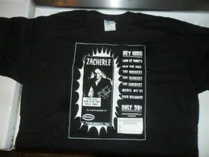 Zacherley SIGNED T-SHIRT Size: XL NEW/UNUSED Cool Ghoul Horror TV Host CHILLER
