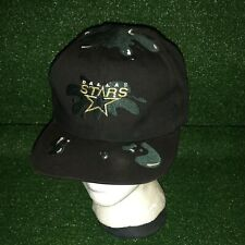 Vintage Official NHL Hockey Dallas Stars Splatter Youth Kids Black Hat