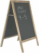 Solid Wood Wooden Free Standing A Frame Shop Chalk Memo Menu Notice Black Board
