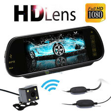 7 Inch TFT Car LCD RearView DVD Mirror Monitor With Wireless Backup Camera Kit