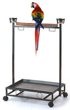 """39"""" Large Amazon Cockatoo Parrot Bird Play Stand Gym Play Ground Rolling Stand"""