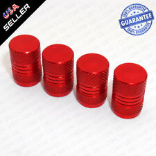 Universal Aluminum Auto Car Wheels Tyre Tire Valves Dust Stems Air Caps - Red