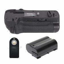 Vivitar Battery Grip For Nikon D500 + EN-EL15 Battery + Universal Remote Control