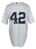 Mariano Rivera Signed New York Yankees Majestic Baseball Jersey HOF JSA Hologram