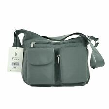 NWT Baggallini Everyplace Bagg Travel Shoulder Bag Purse Crossbody Hobo Gray