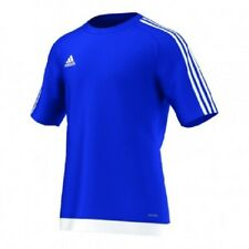 adidas Football Youth Soccer Estro 15 Jersey Boys Climalite Blue White 116