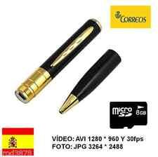 BOLI ESPIA CON CÁMARA OCULTA BOLIGRAFO HD 1280 * 960 + MICRO SD 8GB