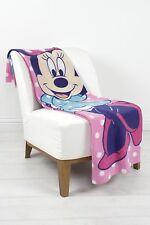 EXTRA LARGE - Minnie Mouse Dots Fleece Blanket Sofa Bed Throw Girls Pink Bedroom