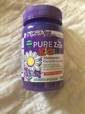 Vicks Pure Zzzs Kidz Melatonin Chamomile Lavender Sleep Aid for Kids 48 Gummies