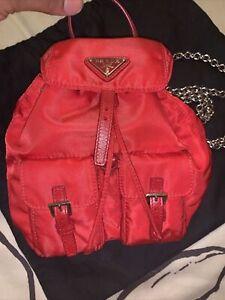 Prada mini Red Nylon Backpack