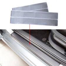 4* Car Door Sill Scuff Carbon Fiber Sticker Welcome Pedal Protect Accessories