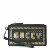 "Gucci Sega Print ""Guccy"" Wristlet Clutch Limited Edition Printed Leather Small"