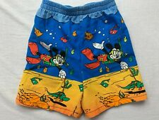Vintage Mickey Mouse All Over Print Shorts Size Youth 5 Made In Usa Euc