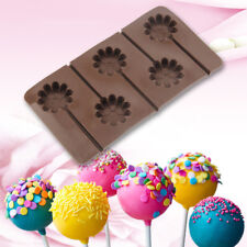 1Pc Flower lollipop Mold Silicone Cake Chocolate Candy Baking Decorating Mould