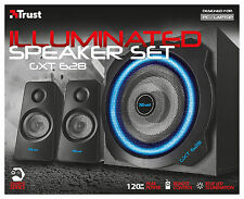 TRUST 20562 GXT628 120W LIGHT-UP 2.1 SPEAKER SET FOR PC WII SONY PS3 XBOX, ETC