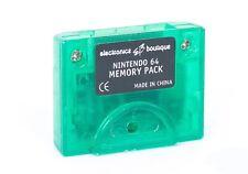 3rd partido Nintendo 64 N64 Claro Verde Memoria Pak para N64 controladores