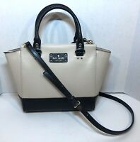 NWT Kate Spade Small Camryn Pebble/Black Leather Purse Satchel WKRU3841 $329