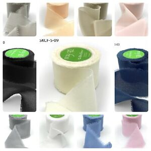 Luxurious Pure Silk Frayed Edge Crepe 32mm Wedding Gift Wrap - sold by the metre