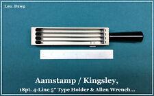 Aamstamp / Kingsley Machine ( 18pt. 4-Line 5″ Type Holder ) Hot Foil Stamping
