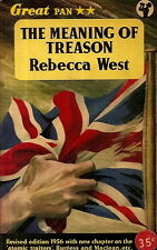 WEST, Rebecca - THE MEANING OF TREASON  Great Pan GP53, 1956