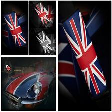 UK Flag Pattern Leather Driver Passenger Seatbelt Shoulder Seat Belt Pad Cover