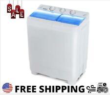 17lbs Portable Mini Twin Tub Compact Washing Machine Washer Spin Dryer New Usa!